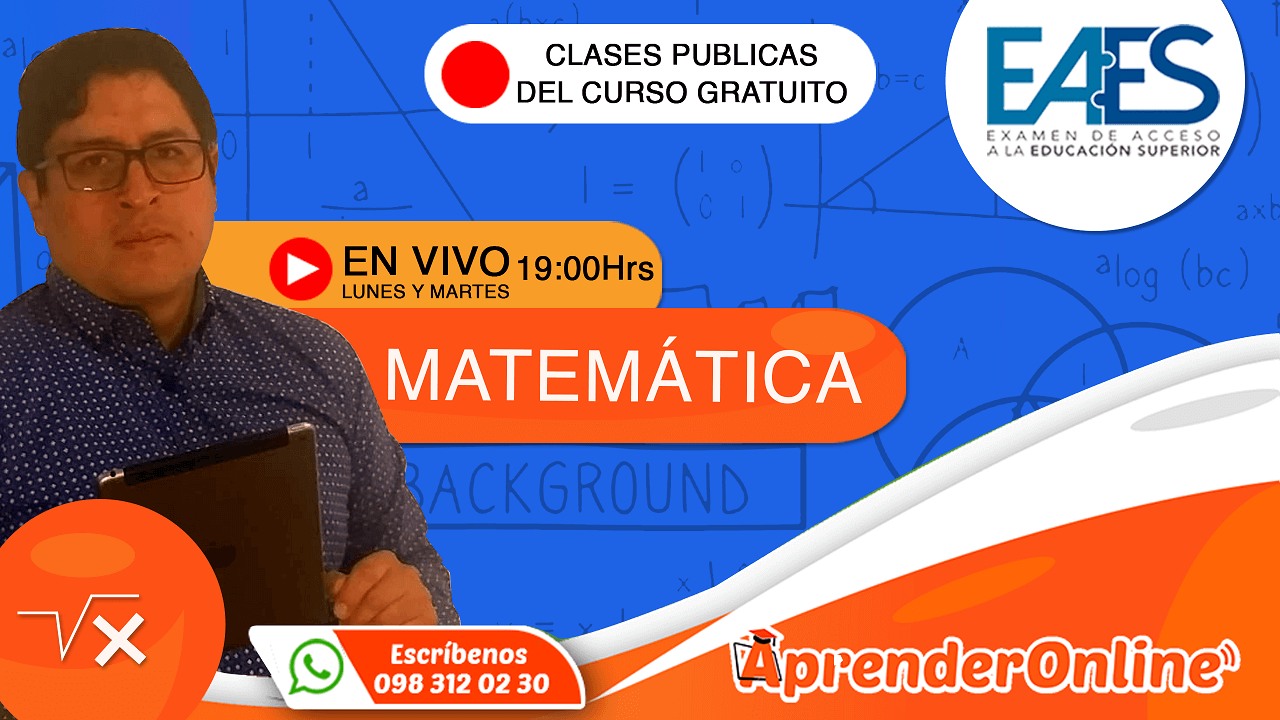 EAES | Clase de MATEMÁTICA | CURSO GRATUITO |🔴 Live (T2/C26)
